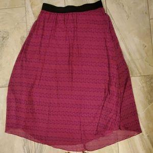 Flamingo Print Maxi skirt